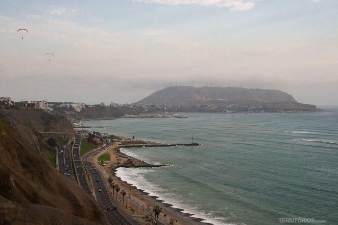 Vista para o bairro Barranco, em Lima