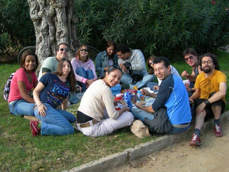 Piquenique no Parc de La Ciudadela