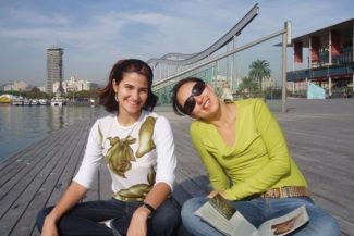 Com Ana em Port Veill