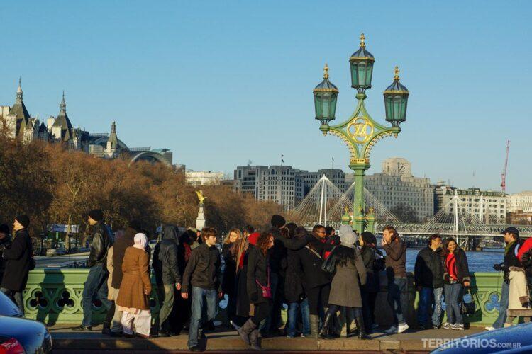 Primeiro dia do ano na Londres no inverno