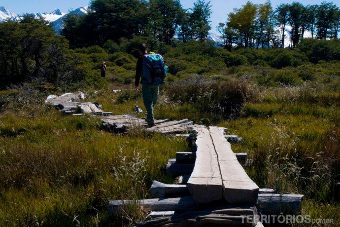 Trilhas demarcadas em parques nacionais são para reduzir o impacto do turista e devem ser utlizadas