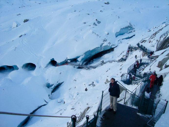 Caminho para o mar de gelo