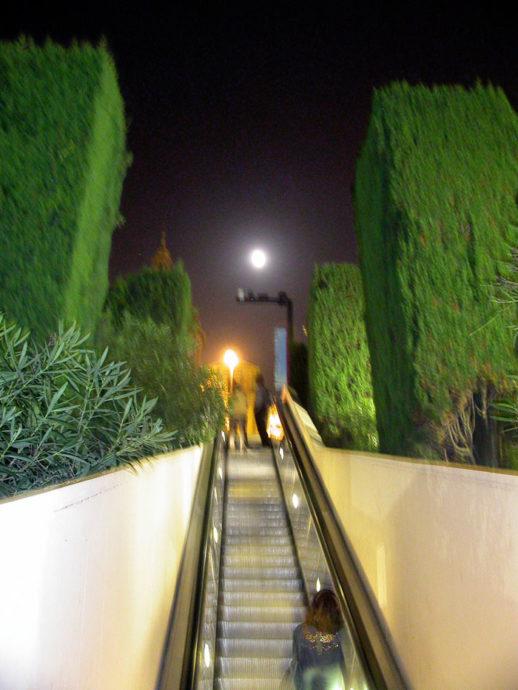 Escadas rolantes em Montjuïc