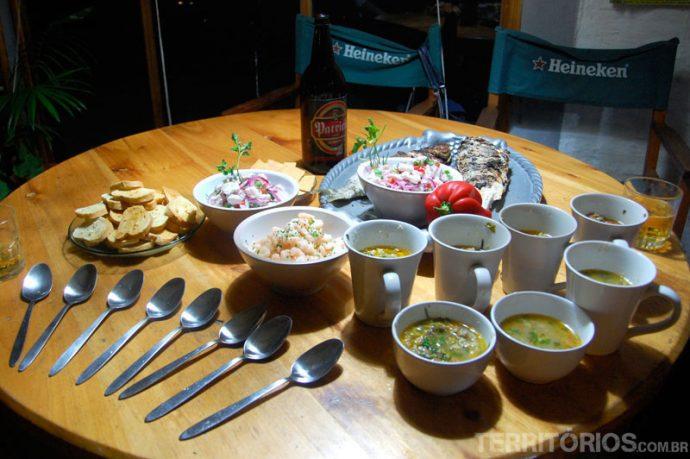 Banquete com frutos do mar