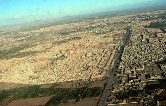 Vista aérea de Marrakech