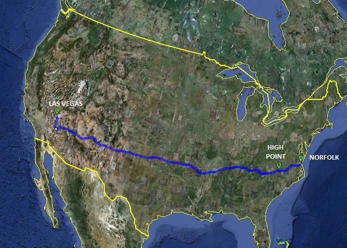 O trajeto de 4.000 km percorrido em quatro dias