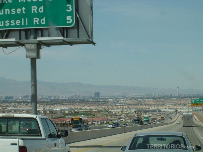 Chegando a Las Vegas