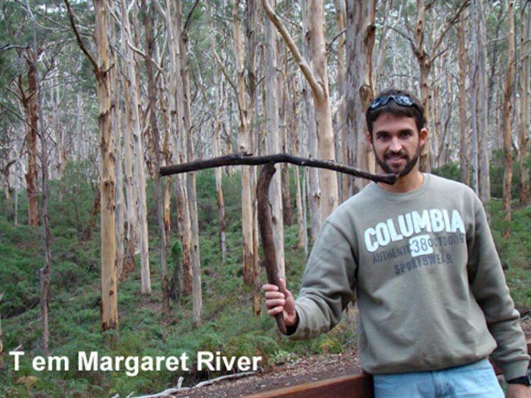 Leandro fazendo o T em Margaret River