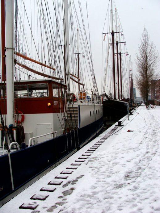 Nosso hotel-barco em Amsterdam