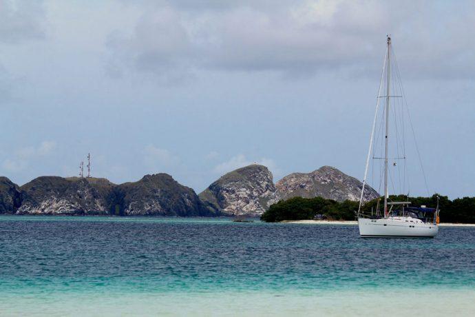 Da ilha Francisqui tem-se uma linda vista de Gran Roque