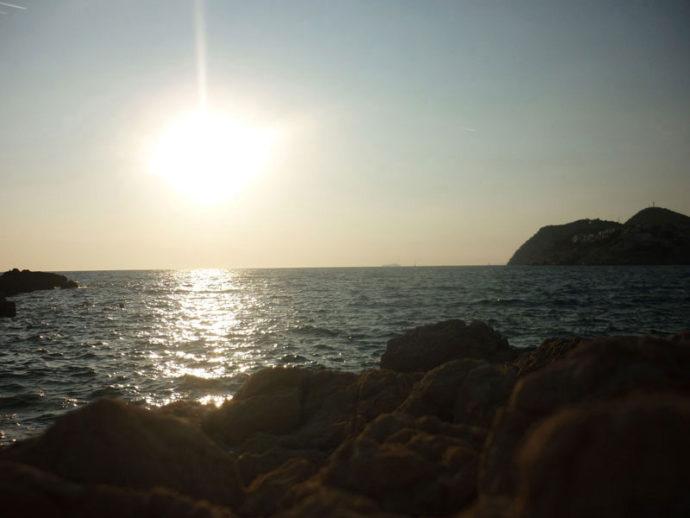 Praia em Dubrovnik - Croácia