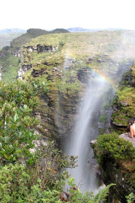 Arco íris na Cachoeira da Fumaça com arco íris, Chapada Diamantina