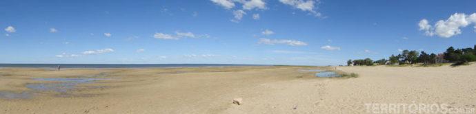 O lado direito da praia...