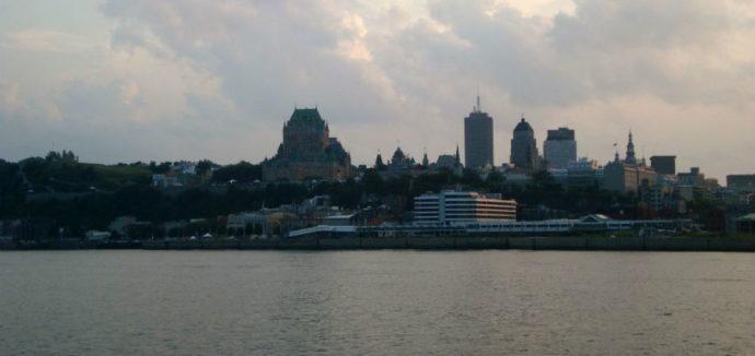 Vista do Rio São Lourencço para a cidade e Chateau de Frontenac