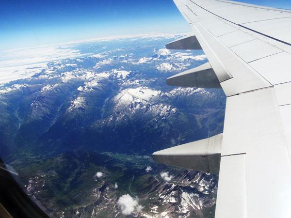 Voando para Itália de Rayanair