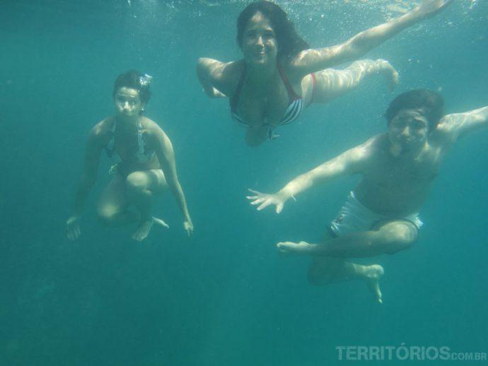 Tirar foto embaixo d'água foi a maior diversão