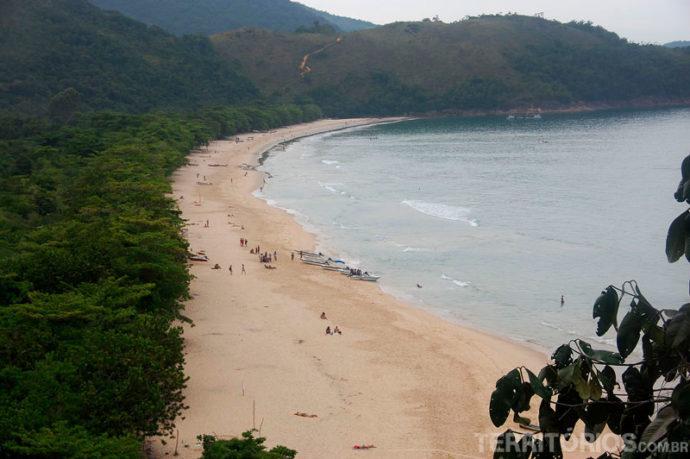 Vista da trilha para a Praia do Sono