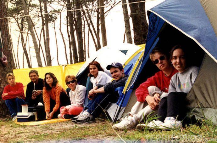 O acampamento em La Moza