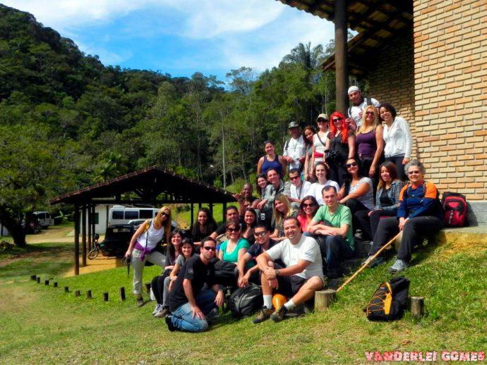 O grupo completo antes da trilha - Nação Trilheira