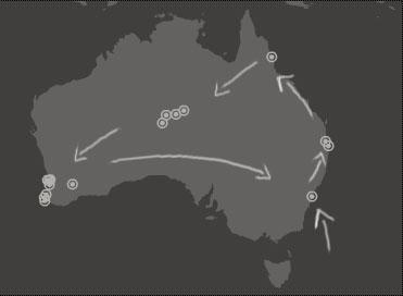 Austrália de leste a oeste