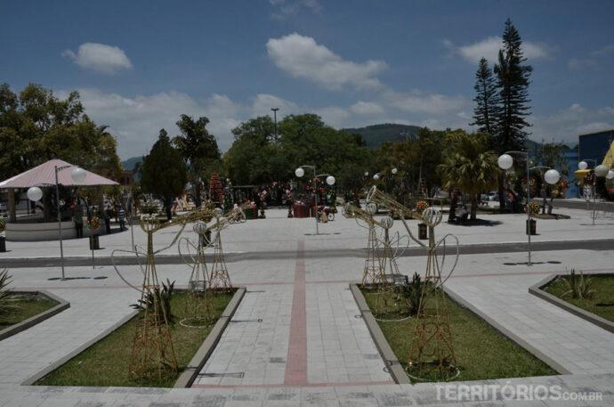 Praça em Praia Grande