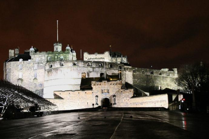 Castelo de Edimburgo, na Escócia