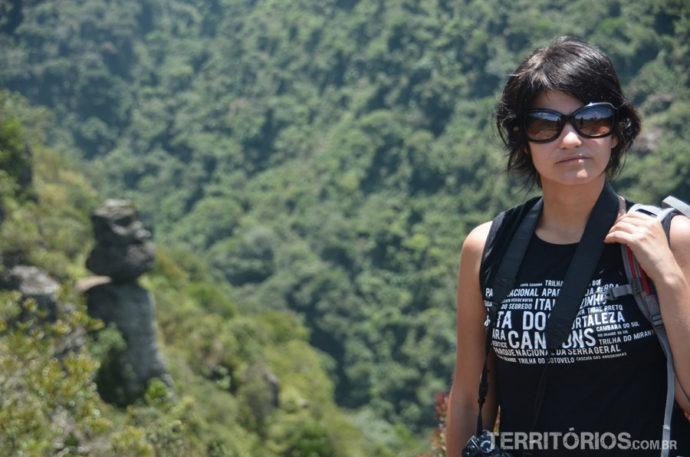 Sol forte no Cânion Fortaleza exigia óculos na trilha