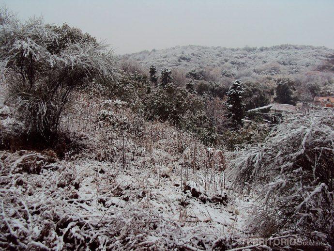 O vale todo nevado