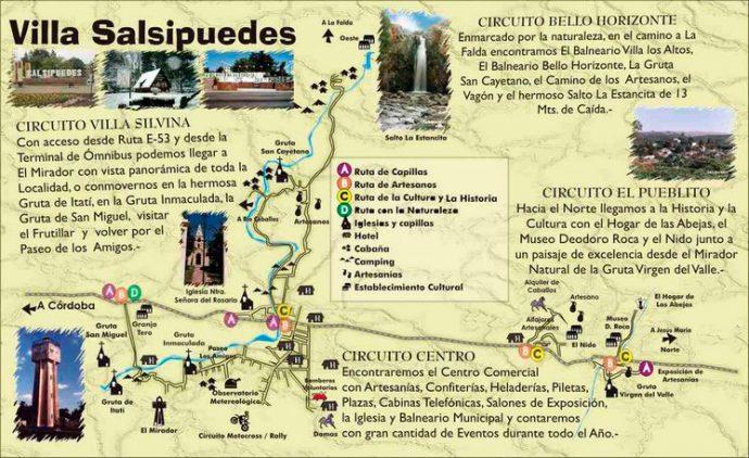 Circuitos turísticos em Salsipuedes