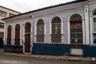 Fachadas com azulejos no centro histórico de São Luis do Maranhão