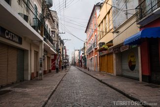 Principal rua de comércio fechada - Rua Grande