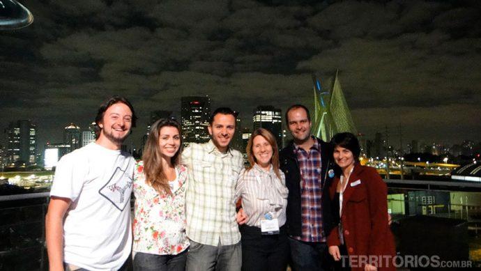 Daniel, Monique, Guilherme, Gardenia, Rafael e eu somos o Alma Paulista
