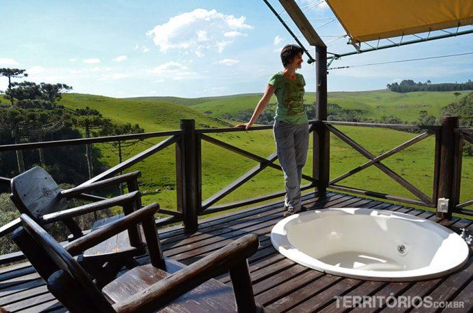 E tinha banheira de hidromassagem na minha varanda