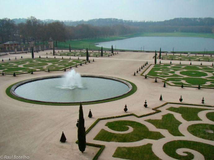 Jardim de Versailles na primavera