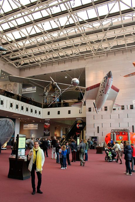Passeando no Air and Space Museum