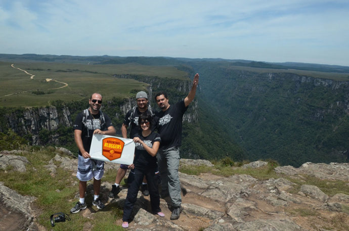 Os aventureiros nos Aparados da Serra