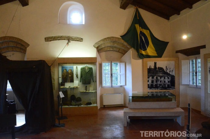 Sala especial sobre a história do Brasil na II Guerra Mundial