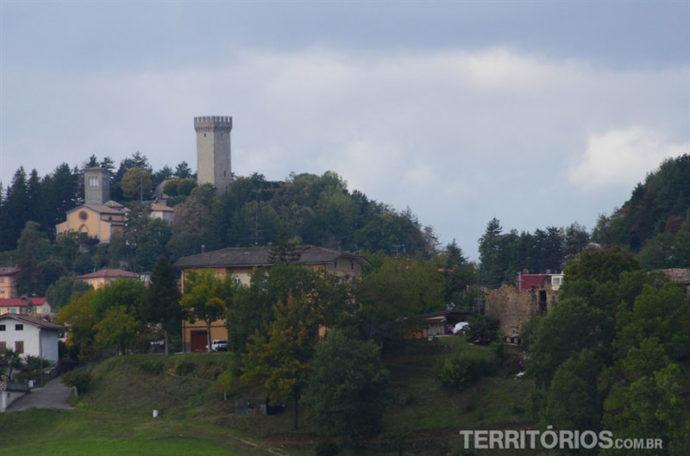 Rocca de Montese fica na parte mais alta da cidade