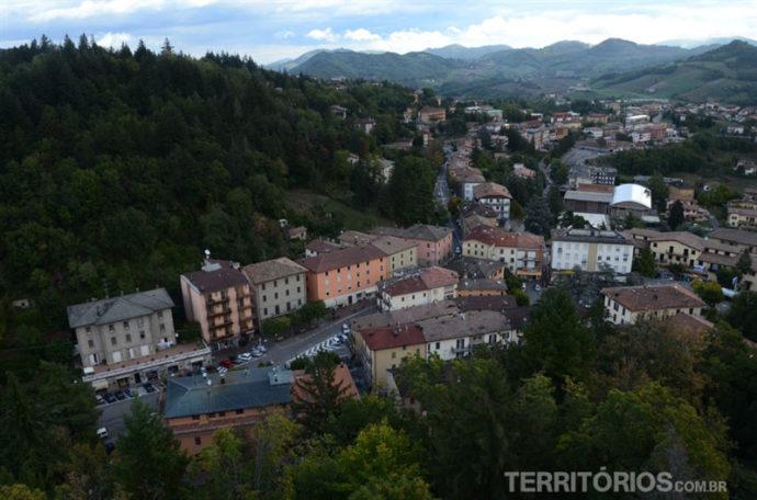 Vista da Rocca de Montese