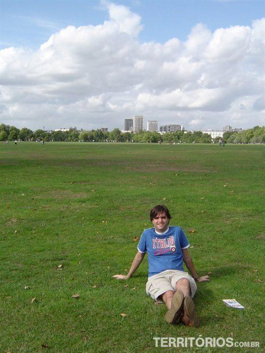 Curtindo o parque