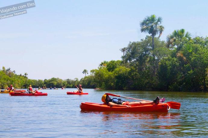 Canoagem no Rio Novo