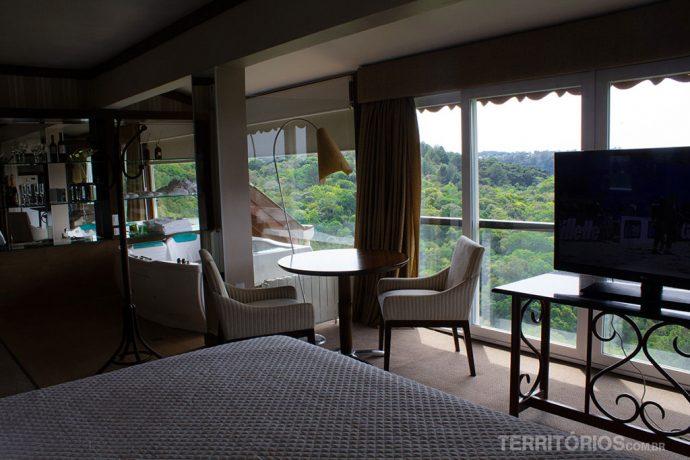 Vista do quarto para o Vale do Quilombo
