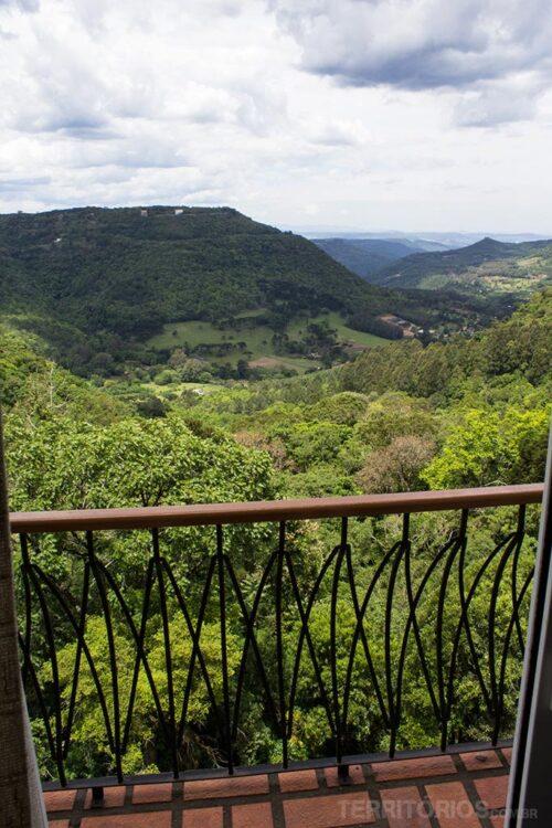 Vista do hotel em Gramado