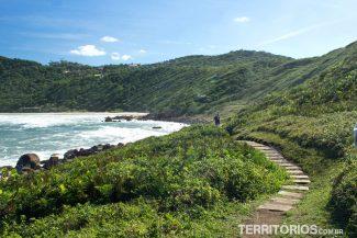 Trilha na Praia do Rosa canto Norte
