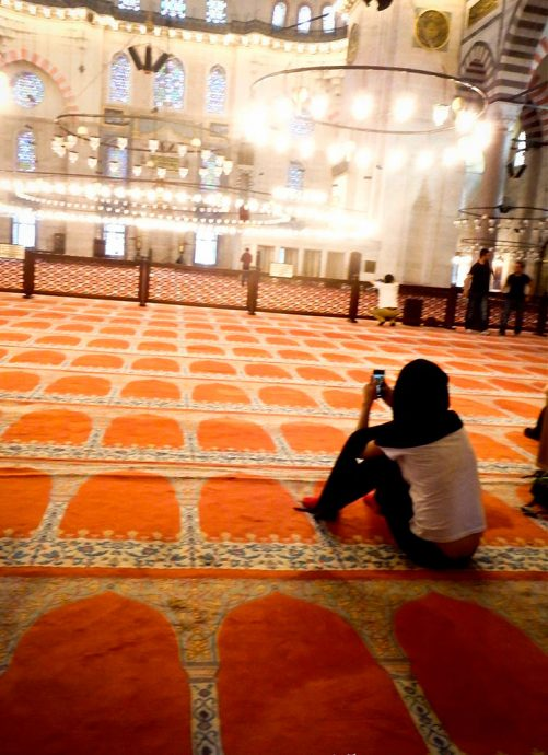 Fotografando na mesquita