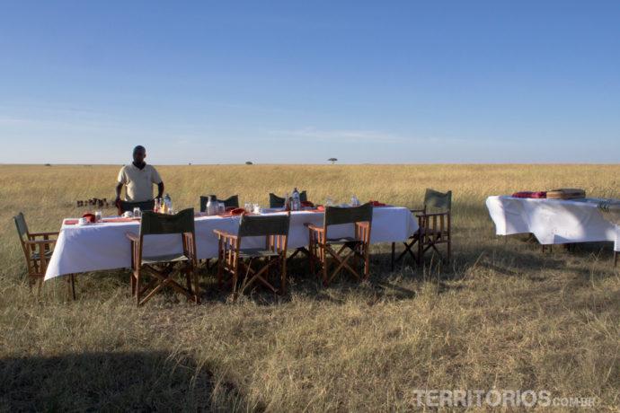Café da manhã na savana