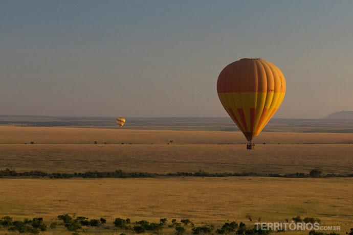 Planície mais bonita com os balões