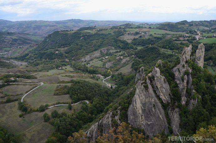 A vista no topo da pedra
