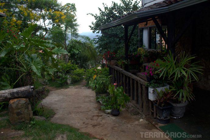 Jardimdo Serra do Luar, em Lavras Novas. O meu prato deste dia está na foto em destaque