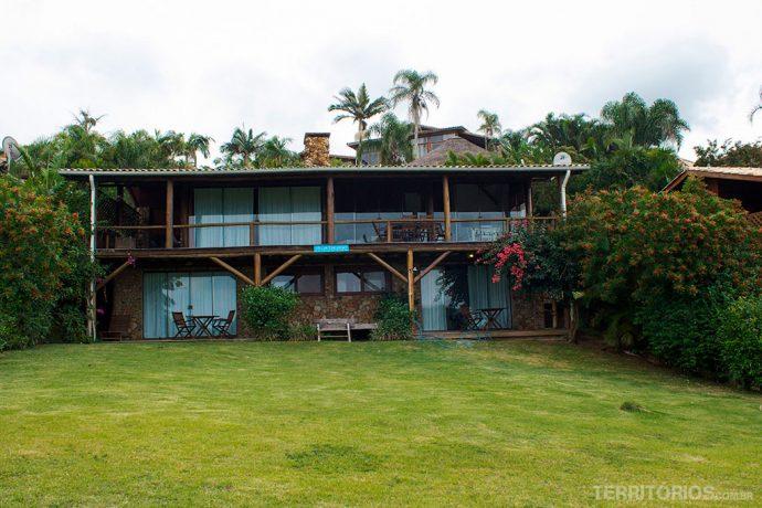 Frente da casa Tucano onde me hospedei com mais doisamigos na Vida sol e mar Ecoresort